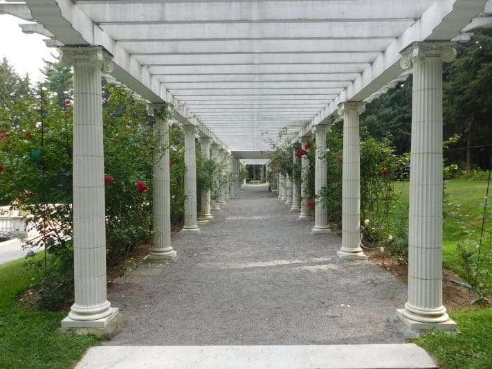 The Yaddo Garden is located in Saratoga Springs and serves as a sanctuary for many artists.