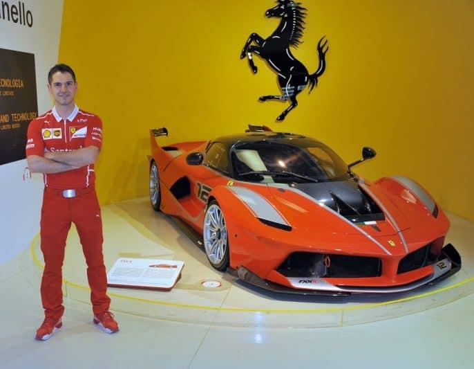 An extraordinarily rare Ferrari 1000 horsepower Enzo at the Ferrari Museum.