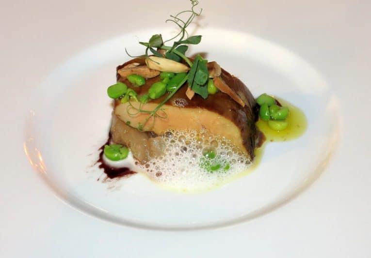 Foie gras at Mistral restaurant at the hotel.