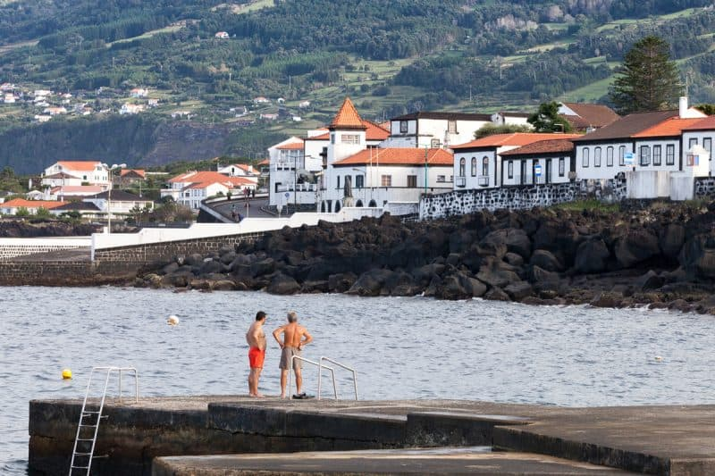 The town of Lajes do Pico, Pico Island, which was once a whaling port, and today offers whale watching and a whale heritage exhibit. Paul Shoul photos.
