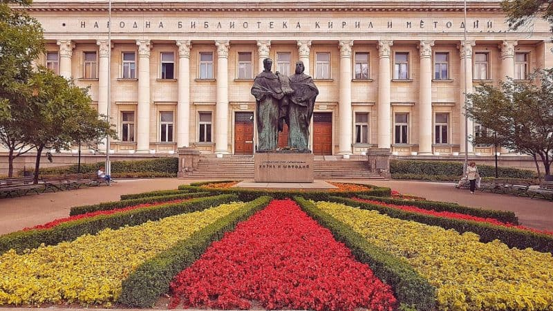 SS. Cyril and Methodius National Library in Sofia, the capital of Bulgaria. Monica Vaklinova photos.