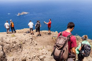 Hiking on the northeastern end of Tenerife.