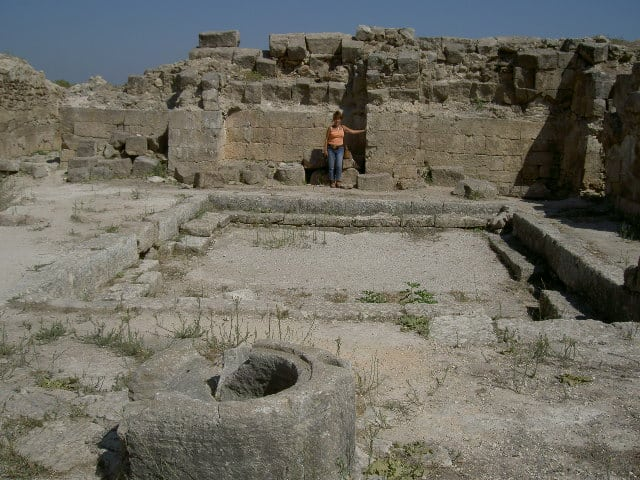 The ruins of a house in Ugarit.