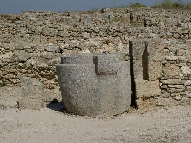 A stone vessel.