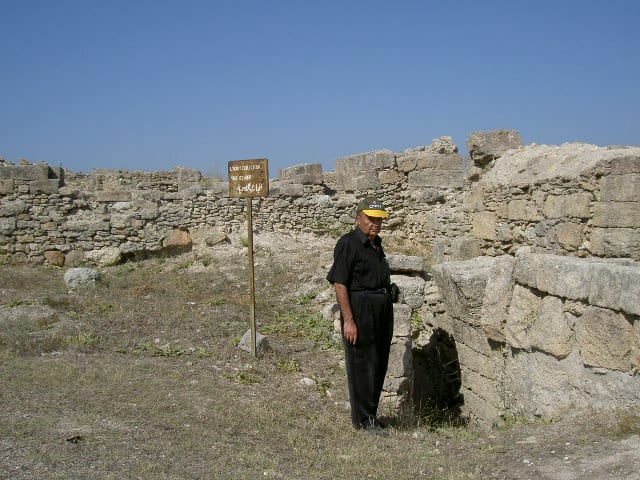 Author Habeeb Salloum surveying the ruins of the site of Ugarit. Habeeb Salloum photos.