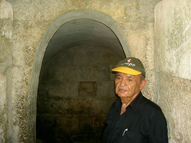 Ugarit - the author at one of the underground tombs in the ancient city of Ugarit.