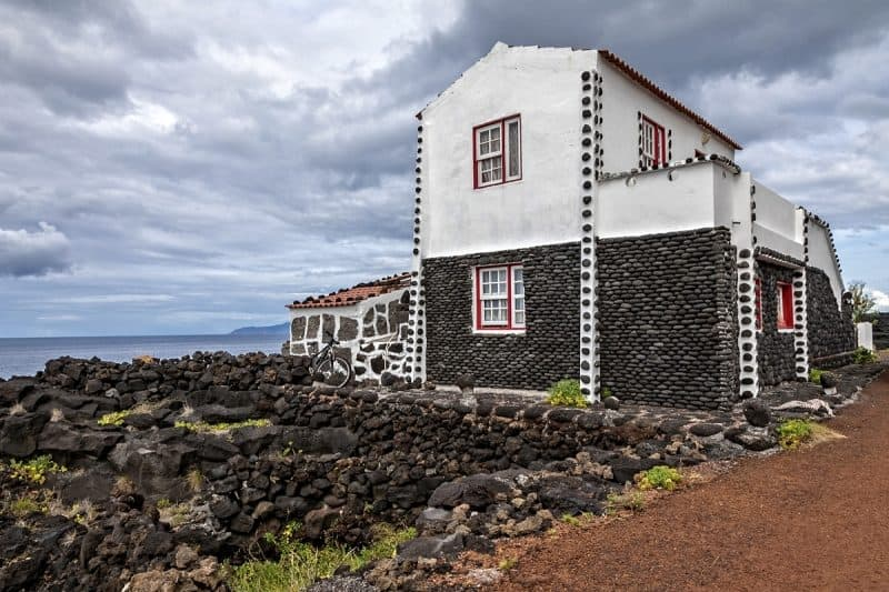 One of many small vacation houses enjoyed by islanders who live here half the year.