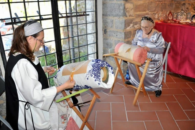 Lace makers in Bellagio show off an ancient traditional craft.