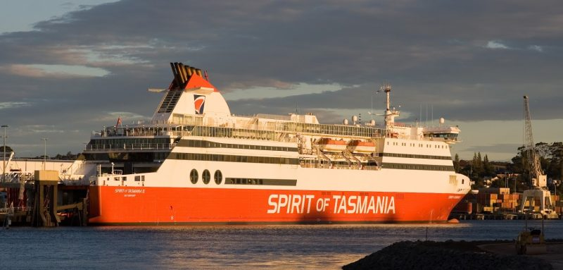 The Spirit of Tasmania ferry: 12 hours, so recommended you travel at night. And it can be very rough seas.