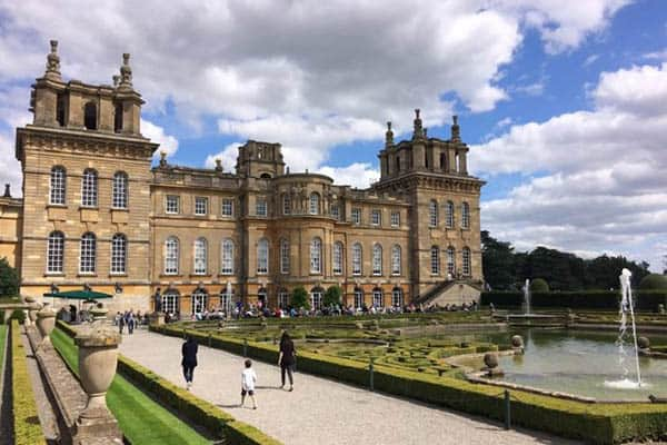 Magnificent Blenheim Palace, where Sir Winston was born and raised.