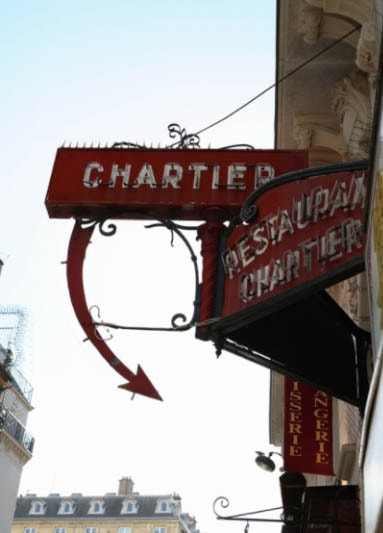 Bouillon Chartier, one of the traditional Paris restaurants specializing in boiled beef.