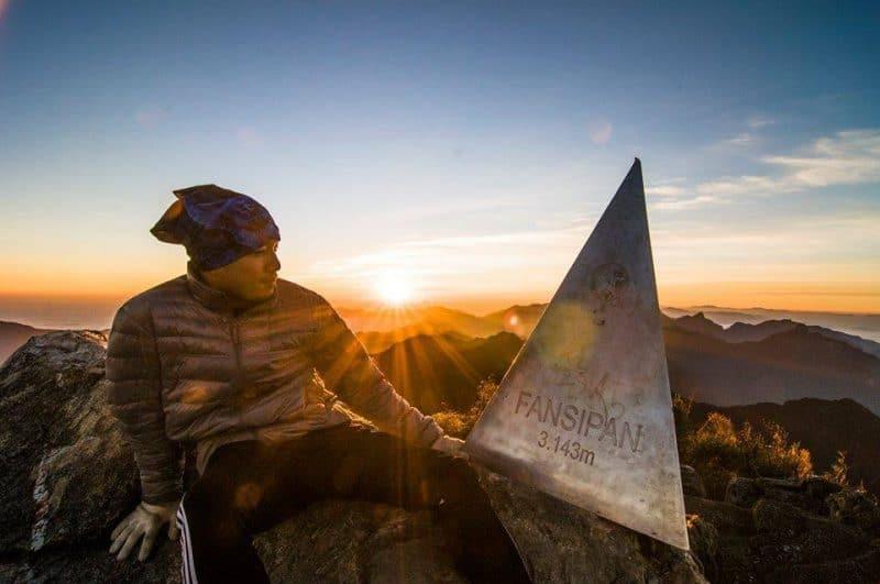 At the summit of Fansipan Mountain in Sapa township, Vietnam. Sapagrouptours.com photo.