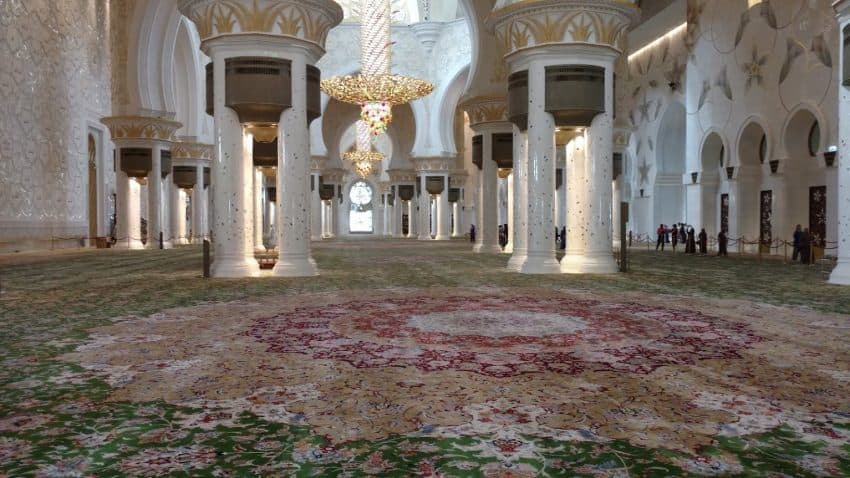 Largest handmade Persian rug in the world, in Sheikh Zayed Grand Mosque in Abu Dhabi