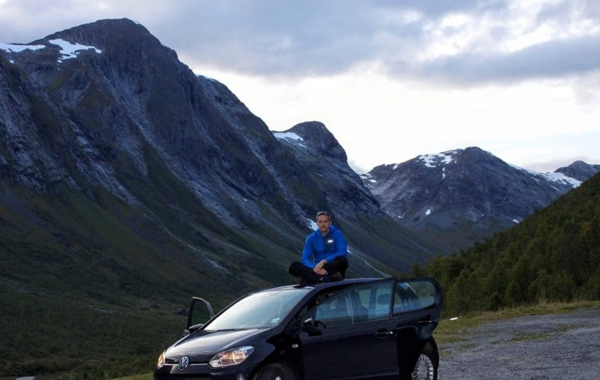 The best way to see Norway - the car. I rented the smallest car they had, and it was the right choice.