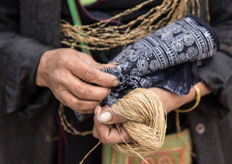 It is not an easy life for women in these ethnic minority villages in northwest Vietnam, having to tend to the family and earn what they can with their handicrafts.