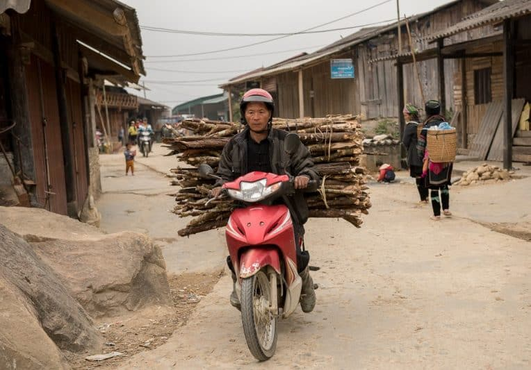 In the small villages around Sapa, there is little in the way of transportation, save for a few motorbikes and a truck or two.