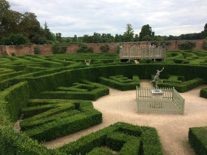 The maze at Blenheim Palace, birthplace of Winston Churchill.