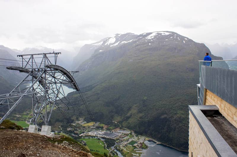 A truly spectacular view from 1011m above Nordfjord.