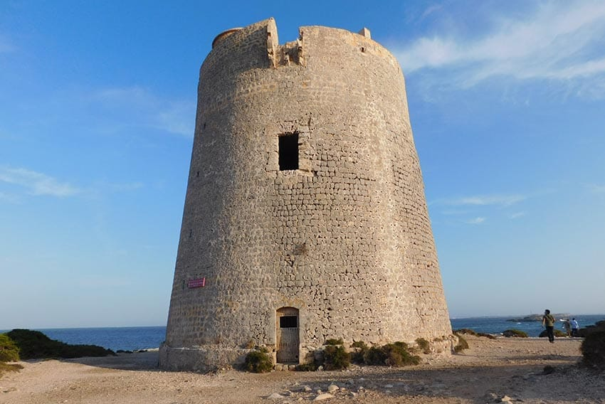 The 16th century Torre de ses Portes defense tower in Ses Salines, Ibiza.