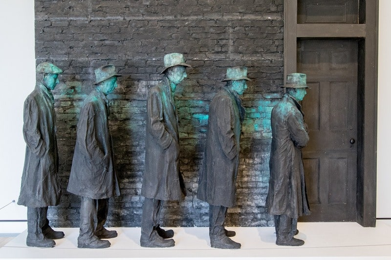 Depression Bread Line, George Segal, 1991.