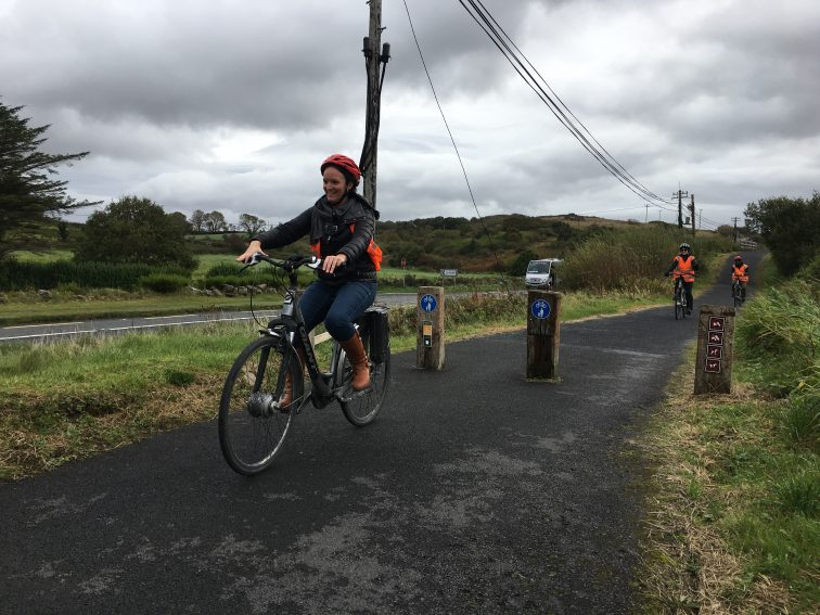 Electric bikes make the 18 kilometer route along the Greenway a breeze.
