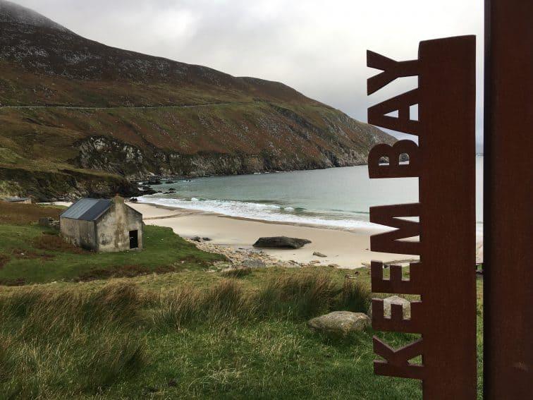 Keem Bay, on Achill Island, a stunning arc of beach.