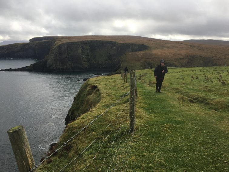 Erris head is a privately owned coastal area where you can either hike along the coast, or jump into the ocean from the cliffs. I choose the former.