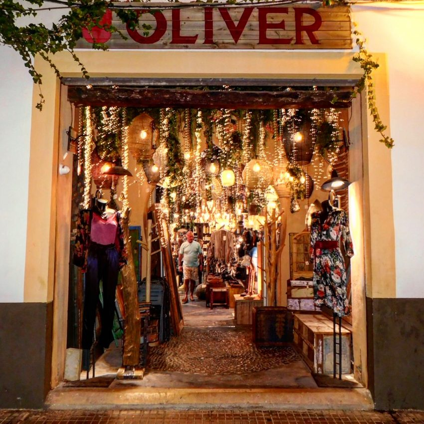A unique local shop filled with Ibiza's latest fashion trends and home decor. Spotted strolling near Dalt Vila.