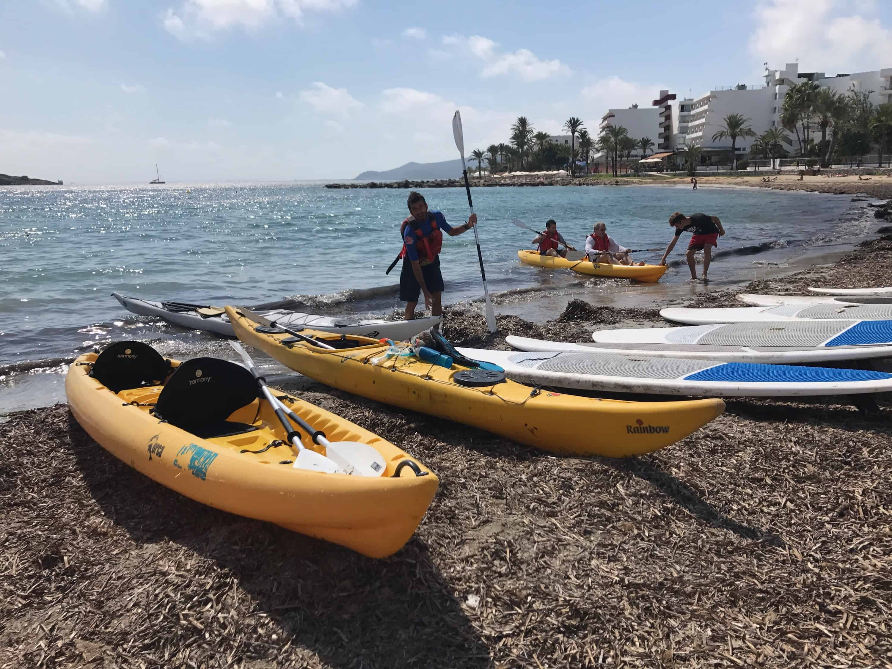 Getting ready to kayak and snorkel through Ses Salines Posidonia. Photo by Erik R. Trinidad.