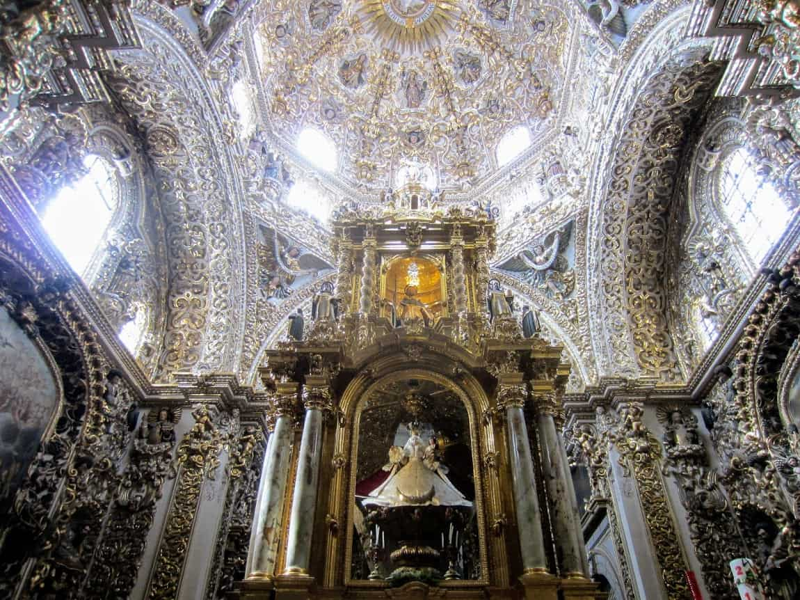 Ornate church in Puebla, Mexico