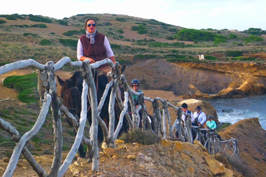 The beauty of Menorca is even more remarkable from the back of a horse on this trail.