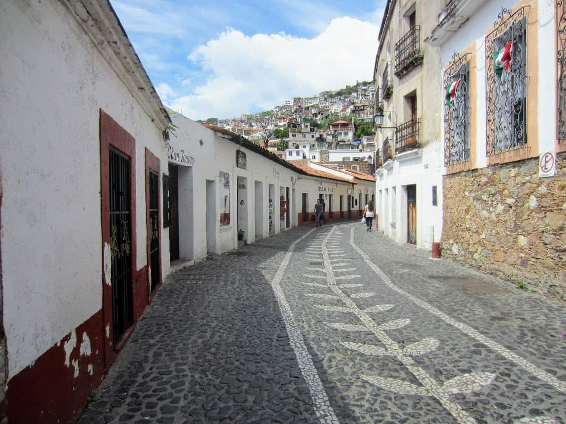 Quaint and charming street in Taxco, Mexico