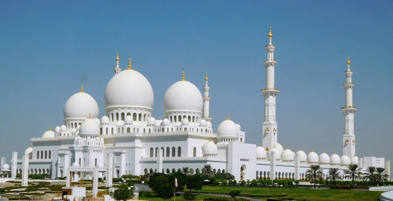 Sheikh Zayed Mosque, one of the largest mosques in the world and incredible to see in person.