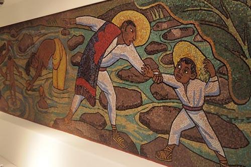 Ceramic artwork in the Soumaya Museum, Mexico City.