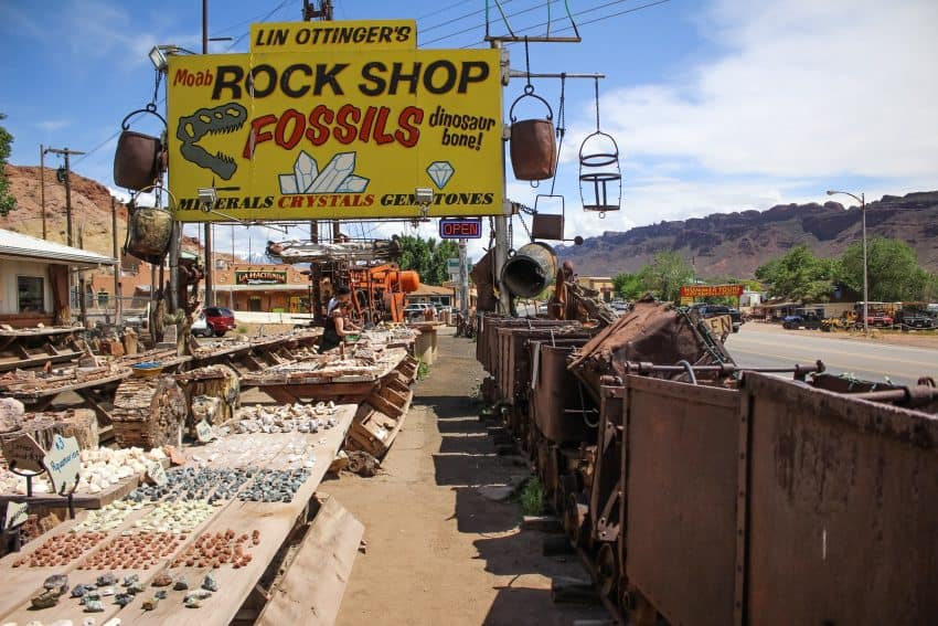 The quirky little town of Moab is filled with curious shops and an easy walking town