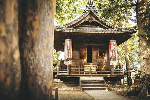 A shrine at Toyokawa Inari Temple.