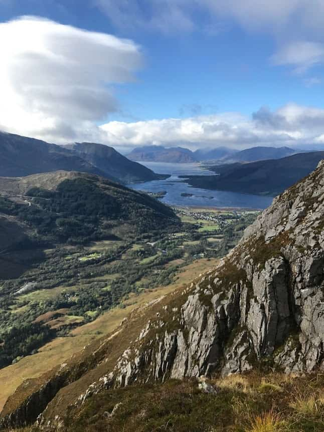 View of Glen Coe from the side of Sgorr nam Fiannaidh, in Scotland. Brian Stanton photos.