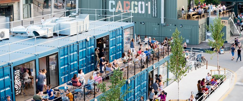 Cargo at Wapping Wharf brings out shoppers and cafe-goers to enjoy dozens of different shops built out of shipping containers.