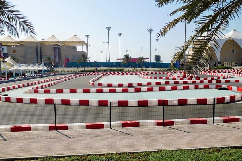 A race track on Yas Island, near Abu Dhabi.