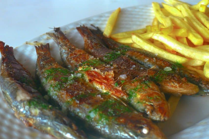 Menorcans love their seafood; especially popular are sardines, grilled Menorcan style, often with lemon and sea salt flakes.