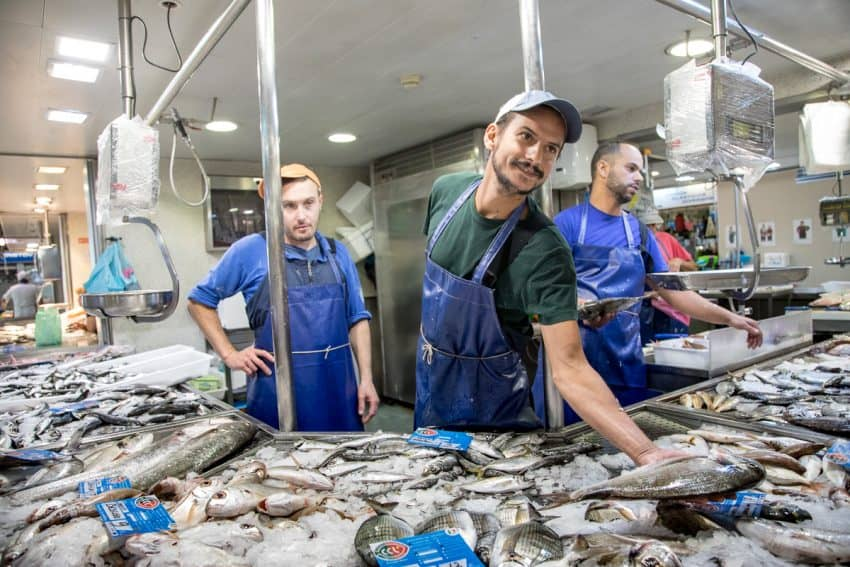 Our Fisherman's food tour began in the public market in Faro, Portugal, about an hour away from the TIvoli Carvoeiro.