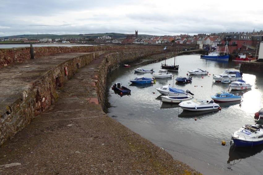 The harbor at Dunbar, Scotland.