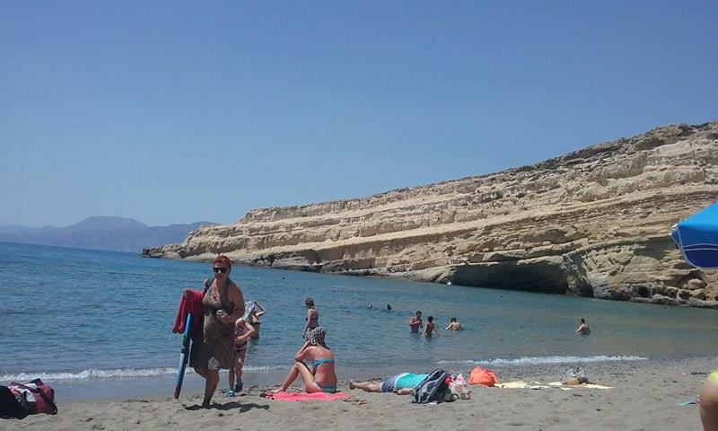 Historic caves and beach at Matala Beach in Crete. Katerina Mihailidis photos.