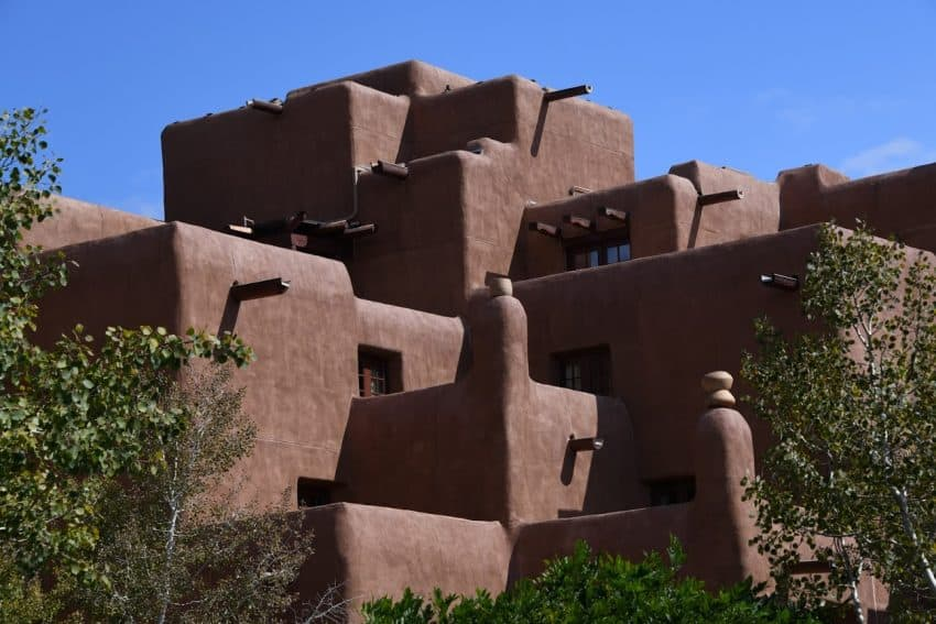 Adobe style architecture dominates Santa Fe