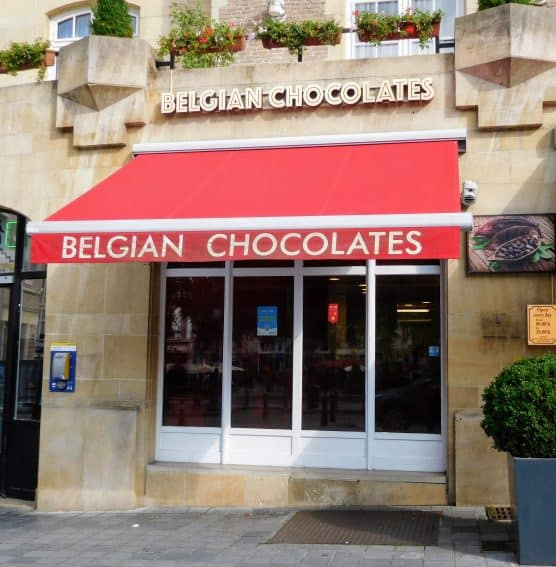 Chocolate is everywhere in Belgium.