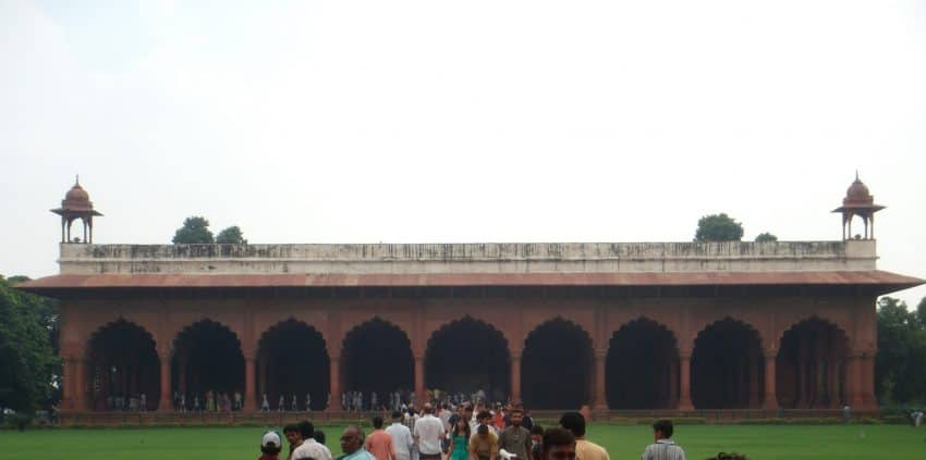 Diwan-i-Am in Red Fort with a nine arch design