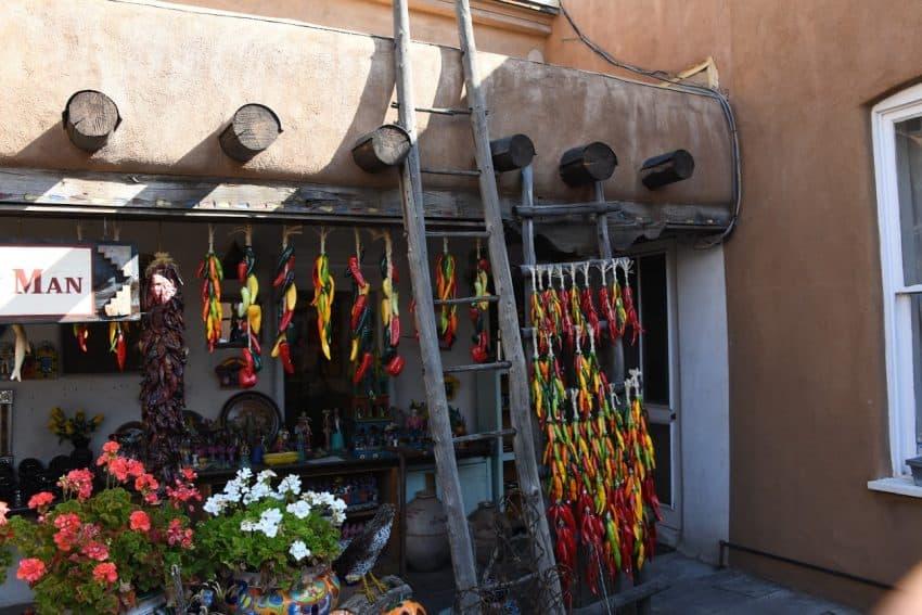 Former secret door for Manhattan Project now a market in Santa Fe.