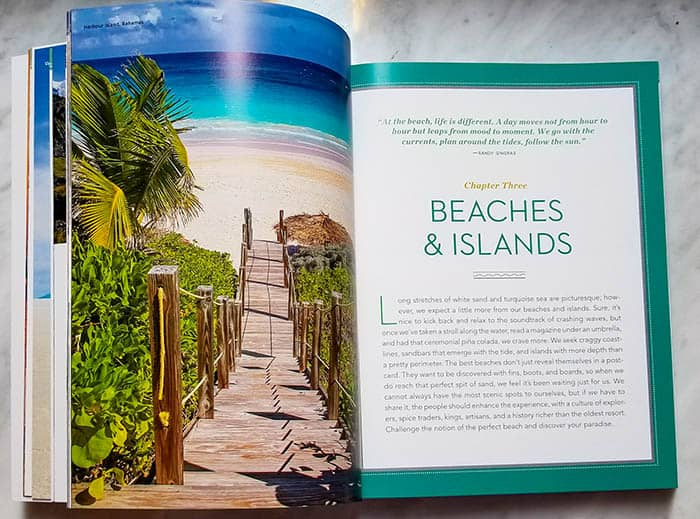 "The chapters of Ultimate Journeys for Two are organized by type of place, like ""Beaches & Islands"" and ""Snow & Ice,"" to help couples discover new destinations based on their interests."