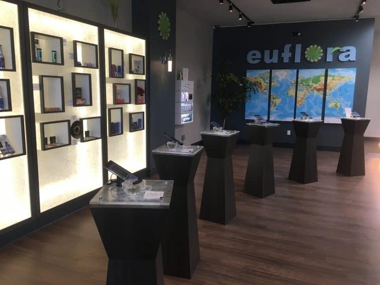 At Euflora, Denver, Colorado, you can examine the strains under a microscope.