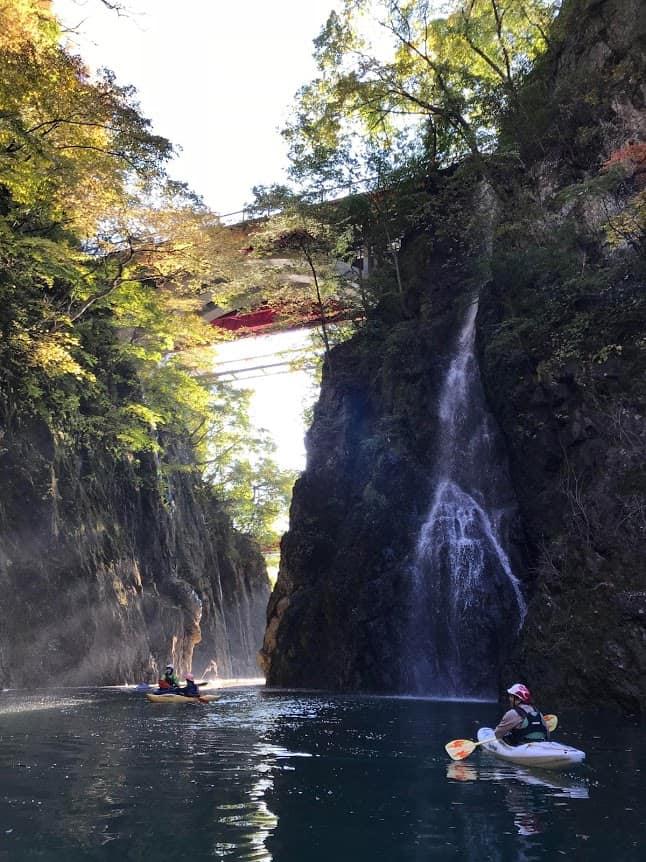 Kayaking in Niigata City Japan.